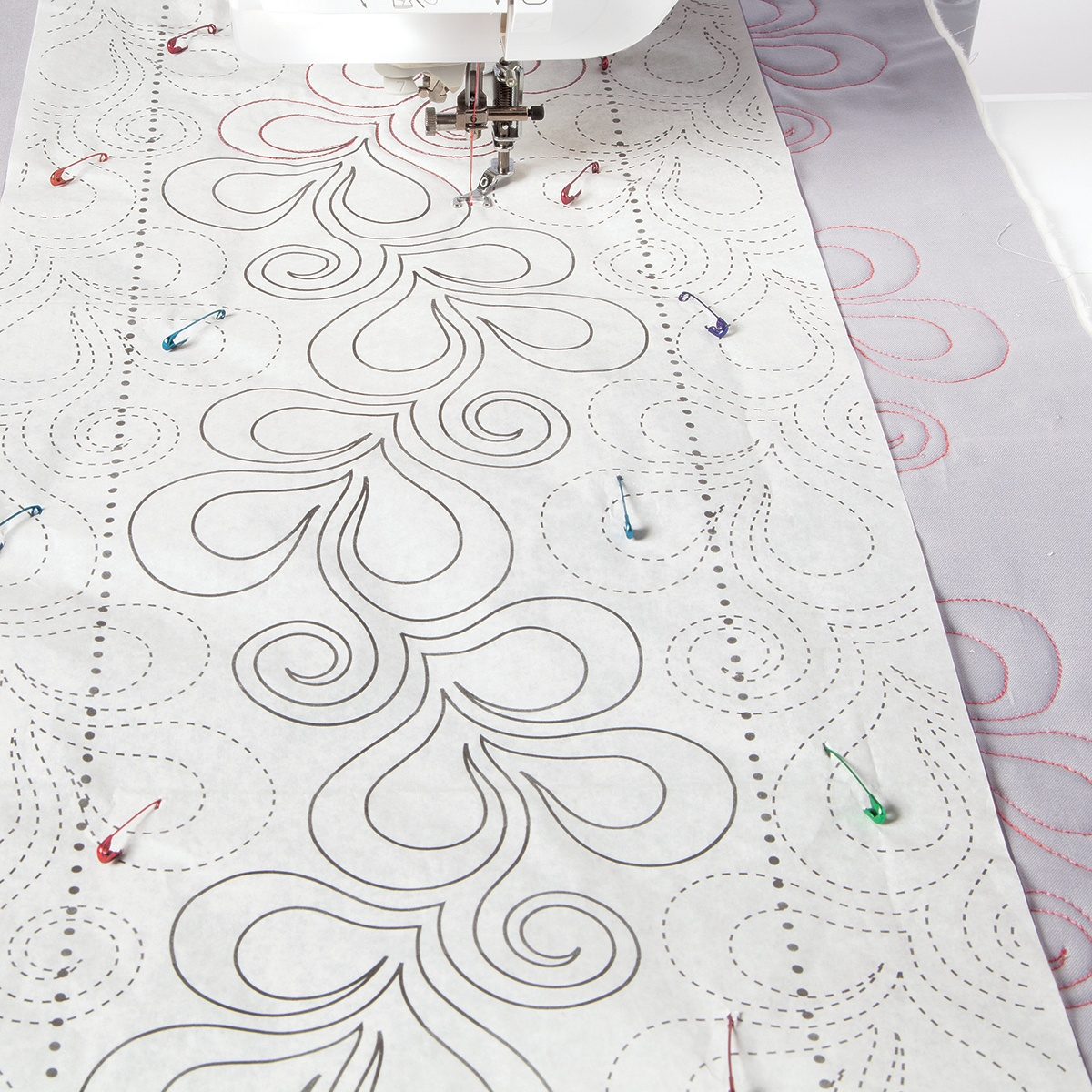 Xanadu Tear Away Pantograph |Finishing |Nancy's Notions - Free Printable Pantograph Quilting Patterns
