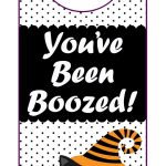"You've Been Boozed"" Printables   Happiness Is Homemade   You Ve Been Boozed Free Printable"