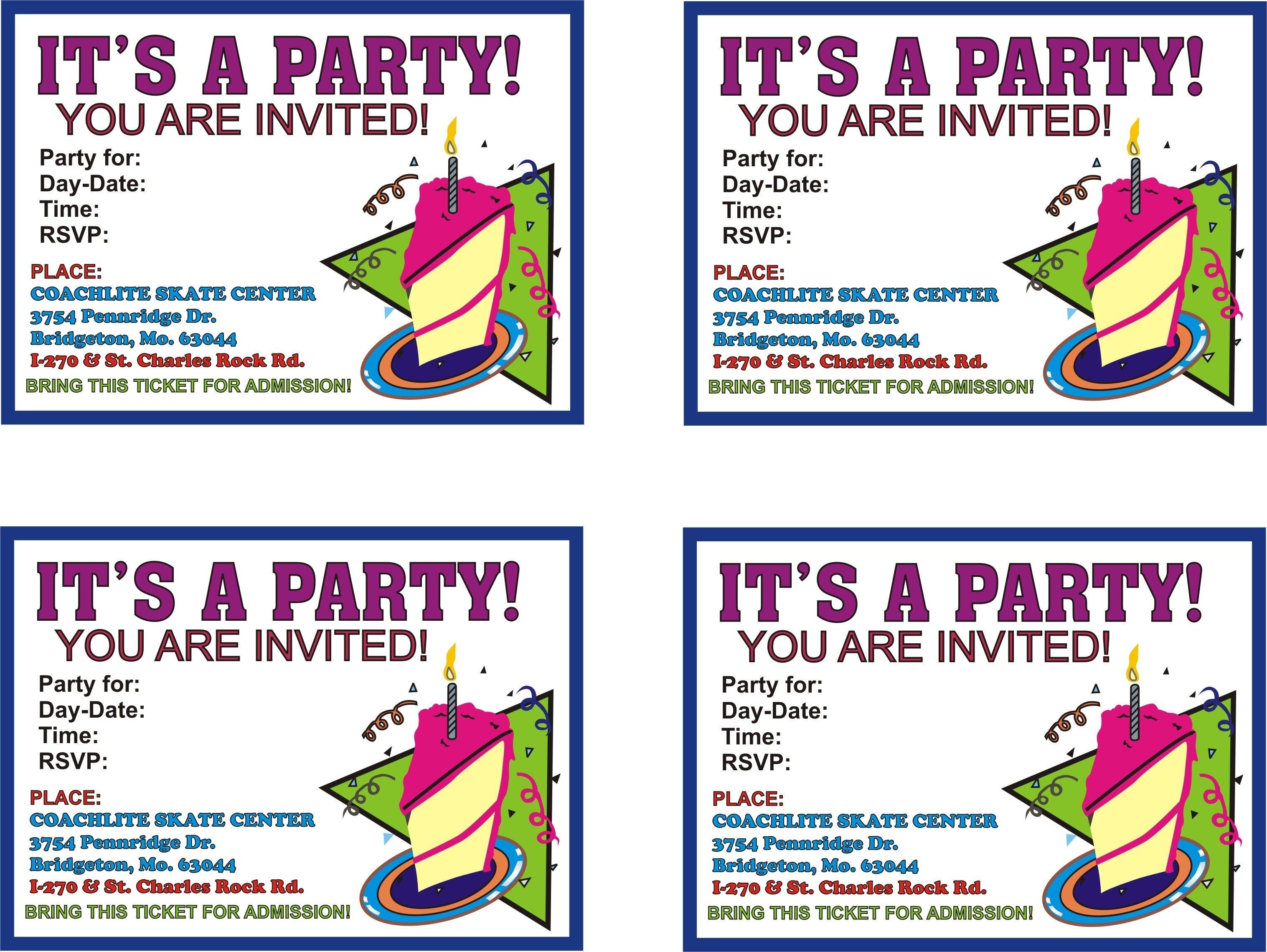 002 Template Ideas Birthday Invitation Templates Free Printable - Make Printable Party Invitations Online Free