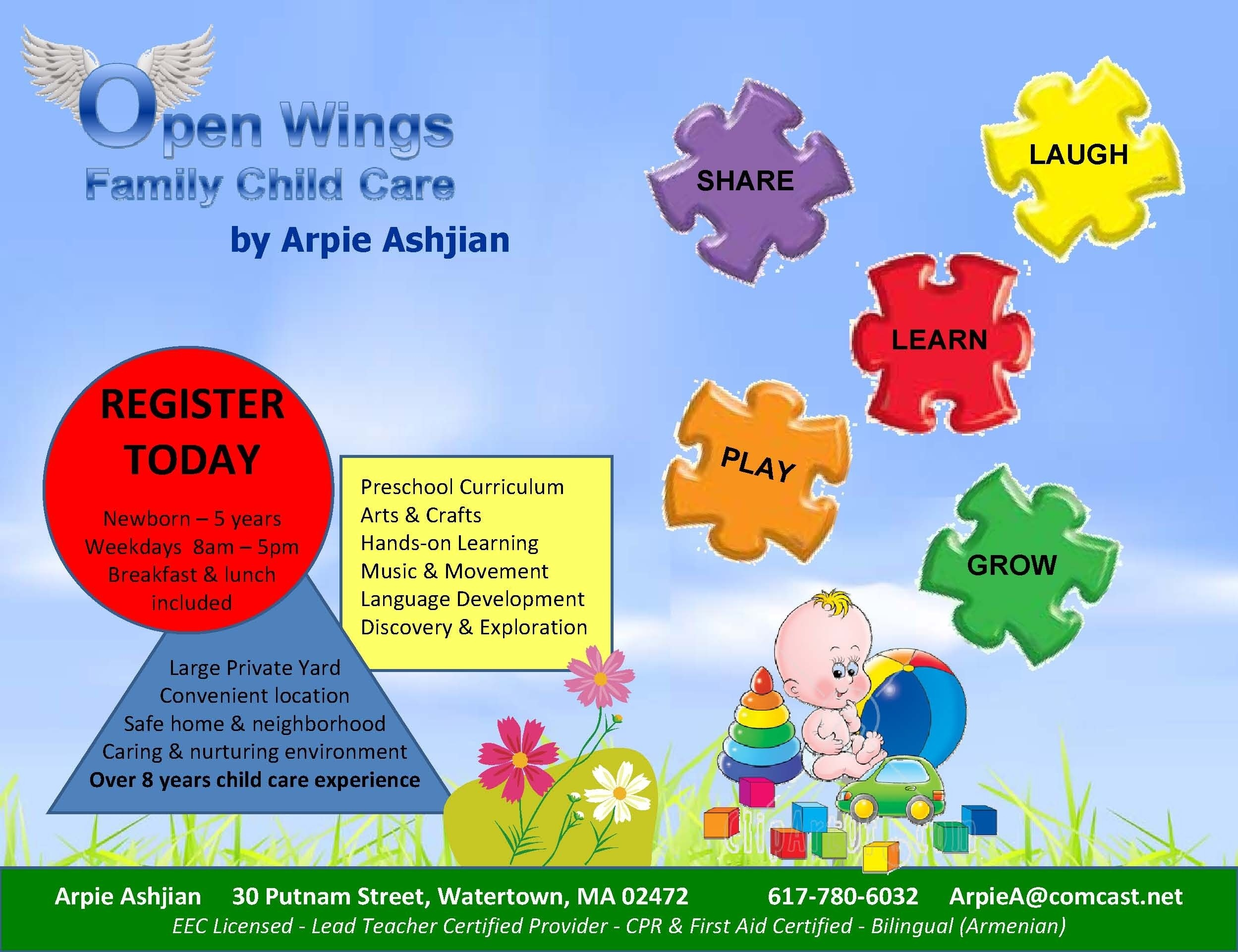002 Template Ideas Sample Flyer Free Daycare Stunning Templates - Free Printable Home Daycare Flyers