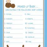 006 Baby Shower Word Scramble Template Fascinating Ideas Printable   Free Printable Baby Shower Games Word Scramble