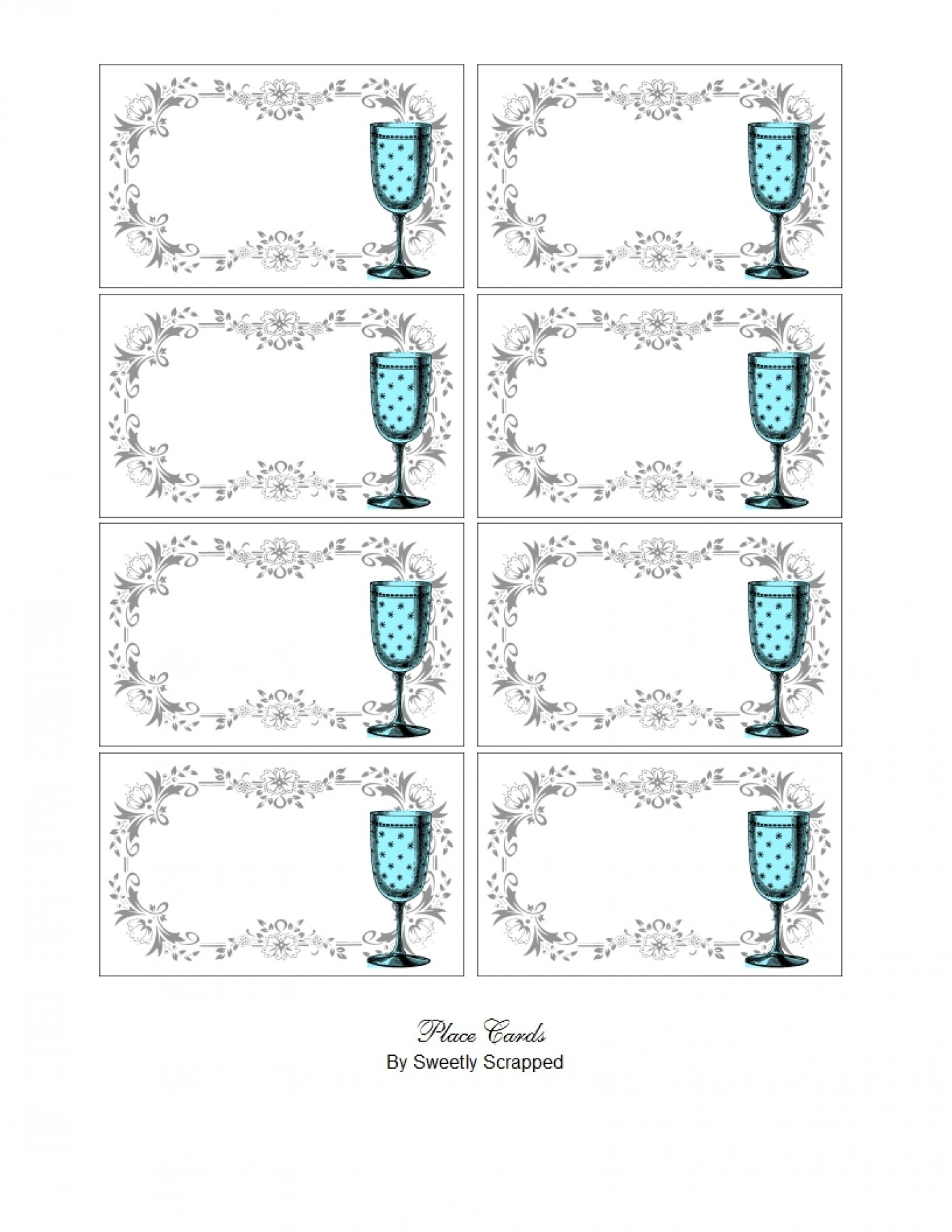 011 Cover 1 Free Printable Place Cards Template Shocking Ideas - Free Printable Place Cards