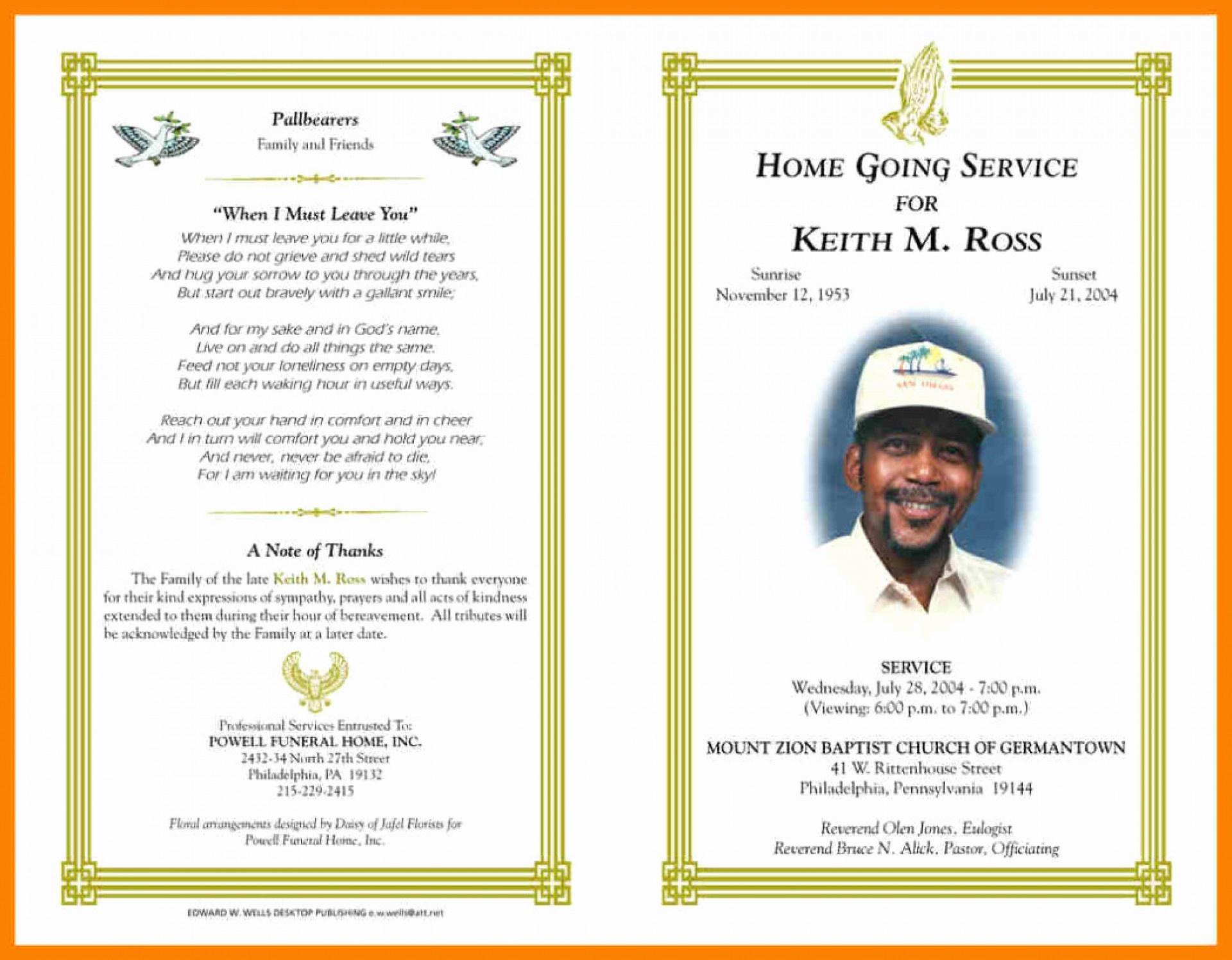 012 Free Printable Memorial Card Template New Obituary Word With - Free Printable Memorial Card Template