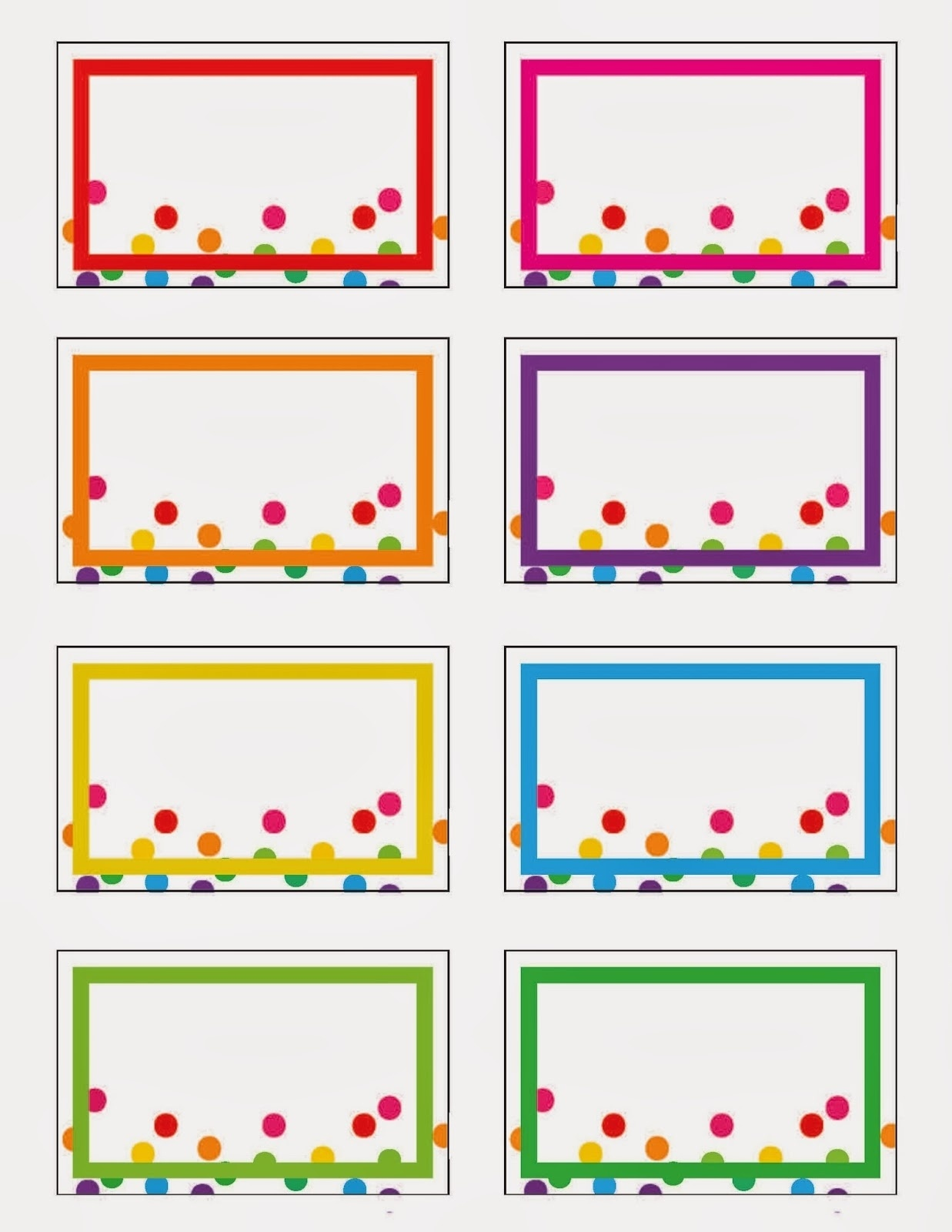013 Free Printable Rainbow Label Templates Within For Kids Template - Free Printable Label Templates