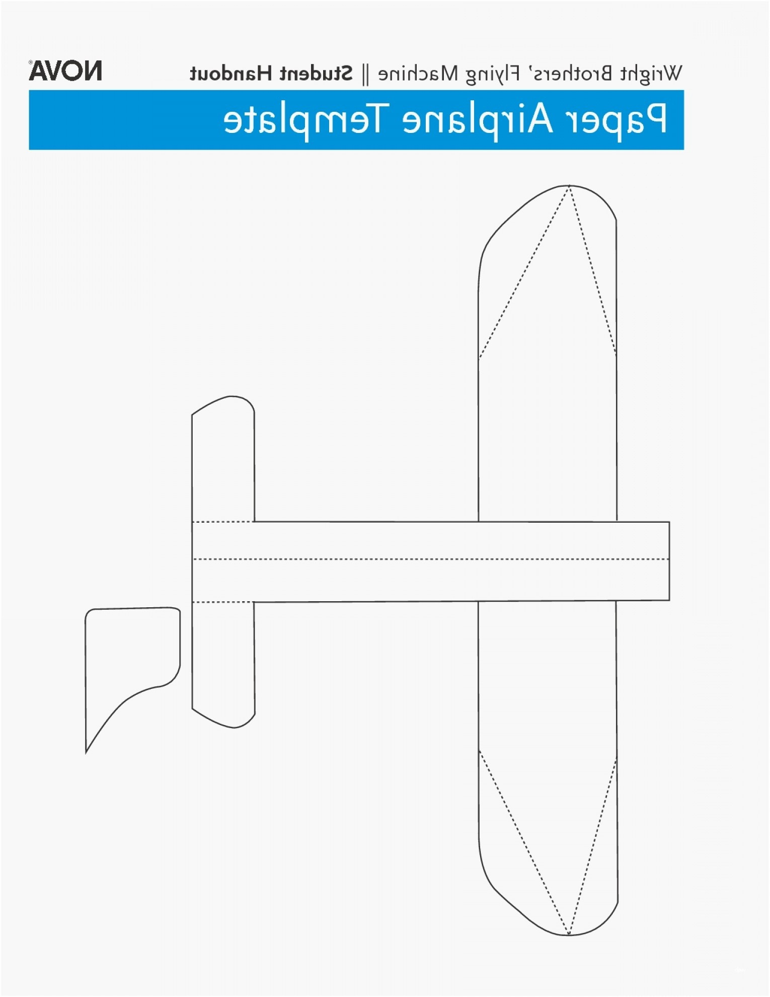 014 Template Ideas Free Paper Airplane Templates Fresh Best Of - Free Printable Airplane Template