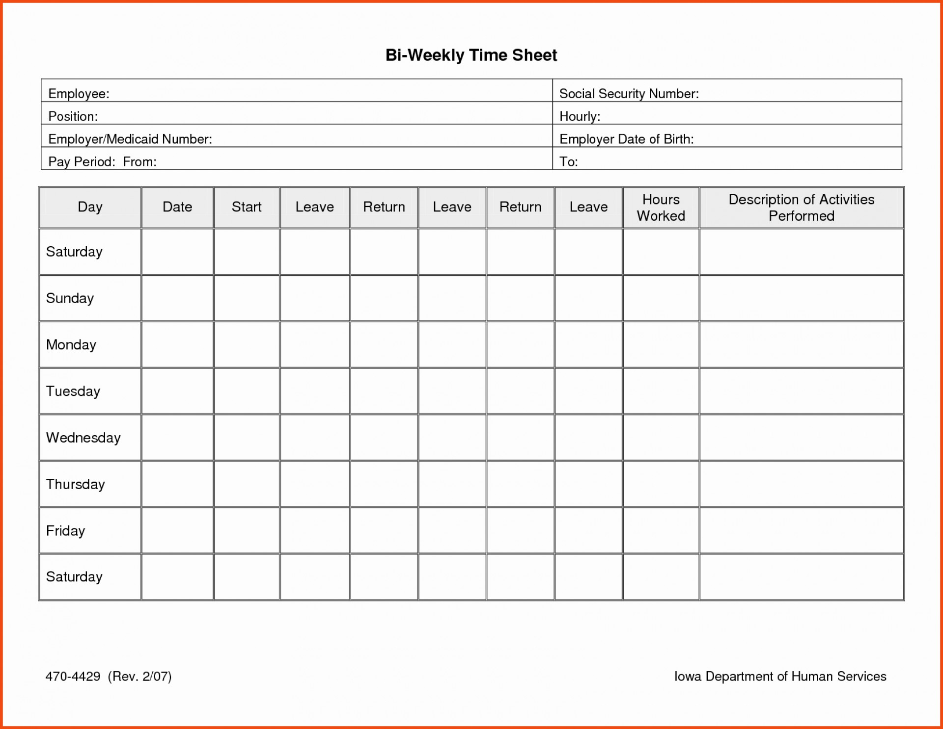 015 Daily Timesheet Template Free Printable Ideas Download Time - Free Printable Blank Time Sheets