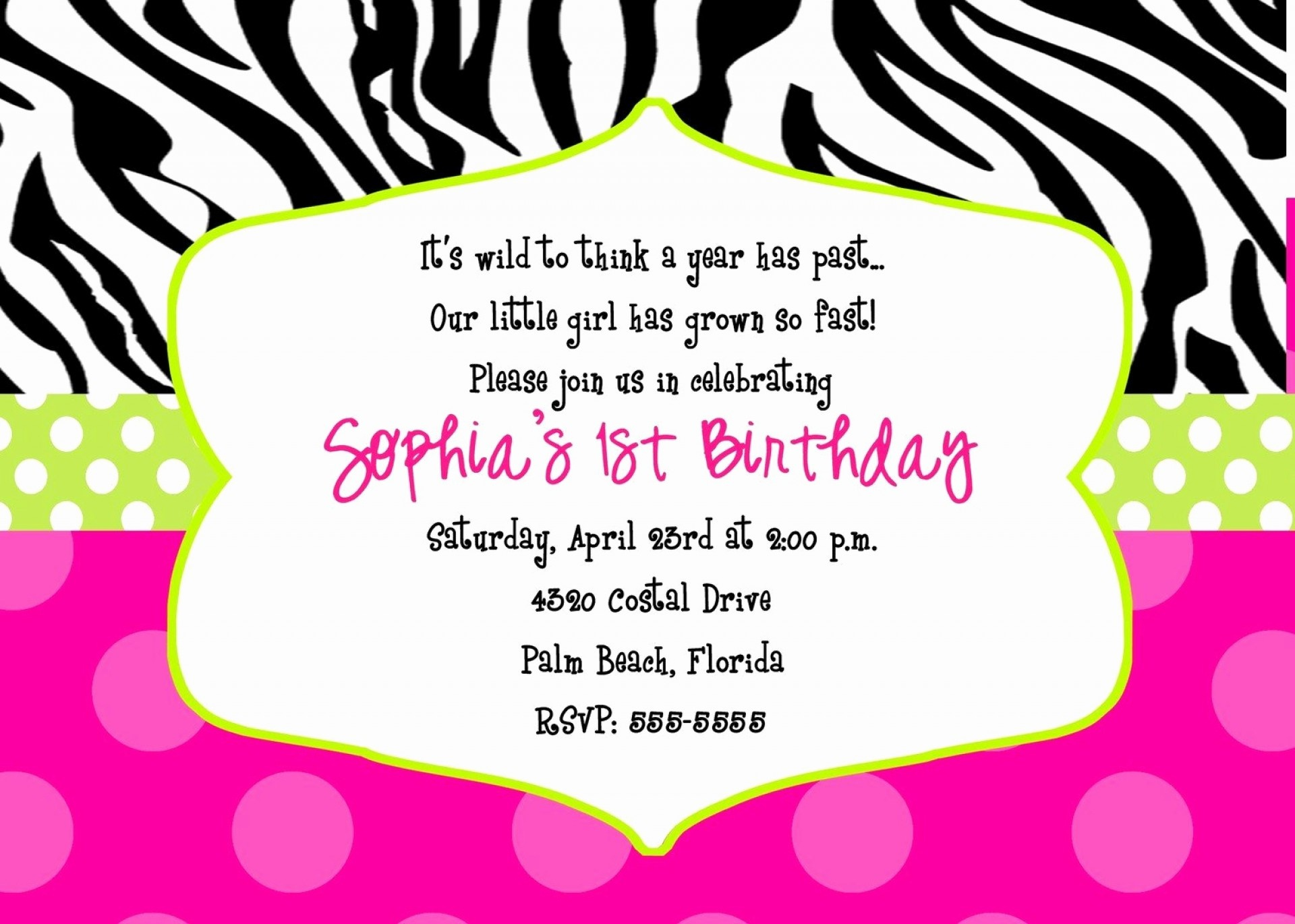 015 Free Printable 40Th Birthday Partyion Templates And Ideas Zebra - Free Printable Animal Print Birthday Invitations