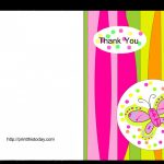 017 Free Thank You Card Template Printable Baby Shower Cards   Free Printable Thank You Cards Black And White