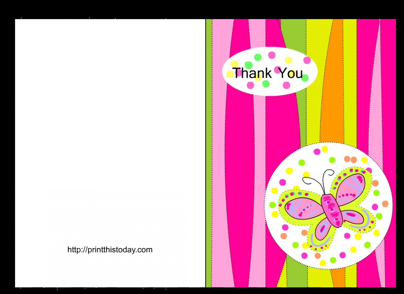017 Free Thank You Card Template Printable Baby Shower Cards - Free Printable Thank You Cards Black And White