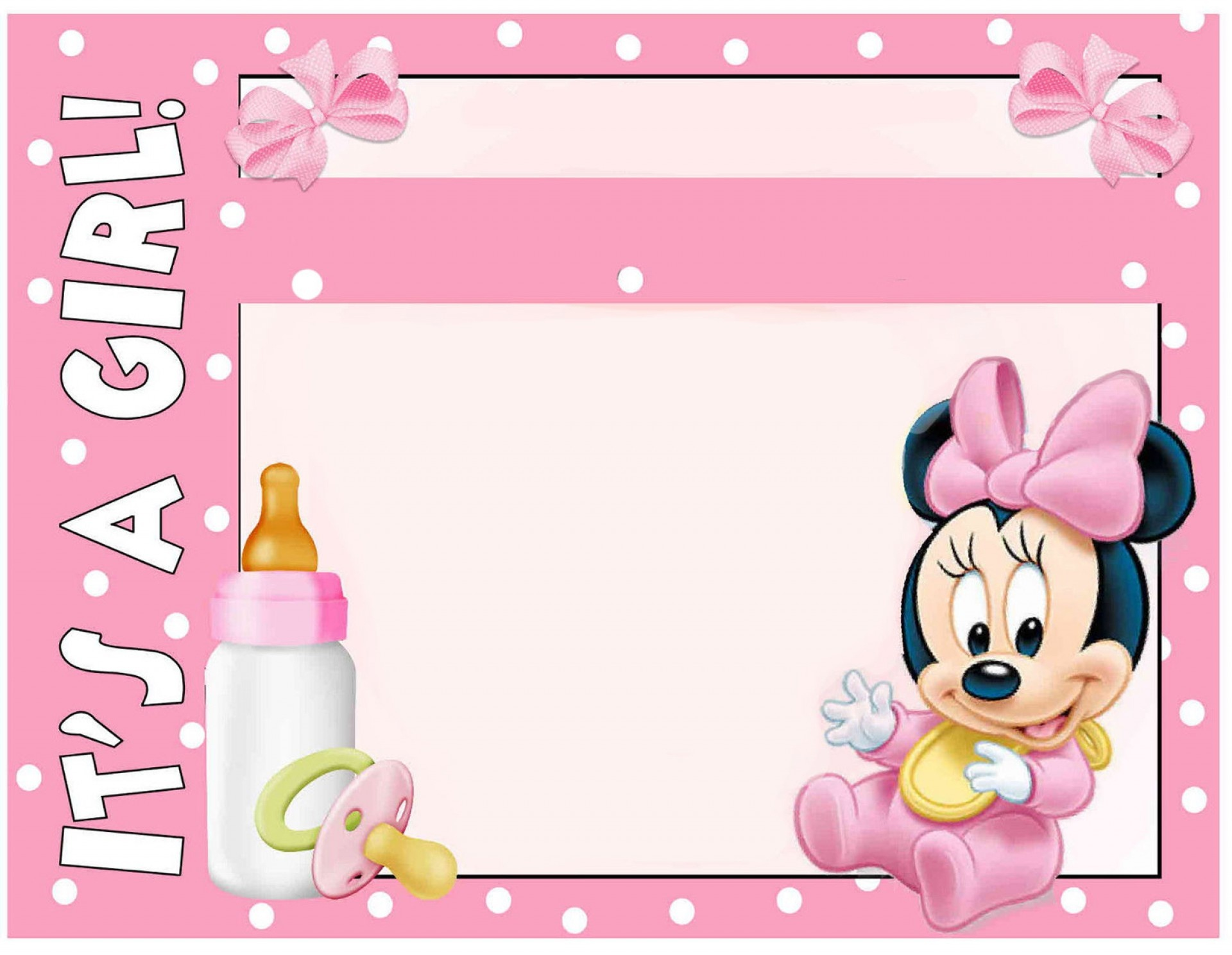 022 Baby Shower Invitation Free Templates Template Ideas Minnie - Free Printable Minnie Mouse Baby Shower Invitations