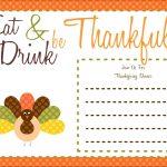 022 Free Thanksgiving Invitationteste Ideas Printable Of Postcard   Free Printable Thanksgiving Invitation Templates