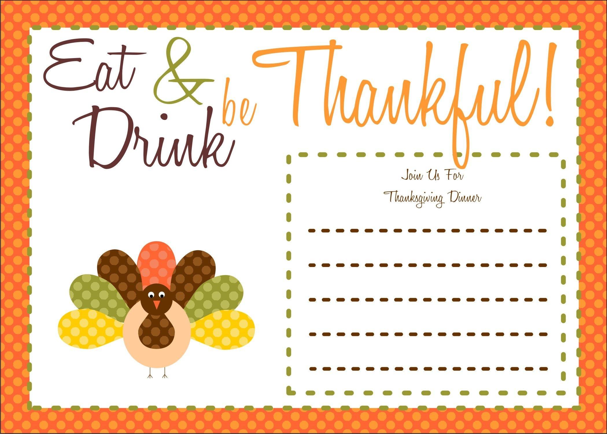 022 Free Thanksgiving Invitationteste Ideas Printable Of Postcard - Free Printable Thanksgiving Invitation Templates
