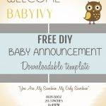 026 Free Birth Announcements Templates Template Phenomenal Ideas Diy   Free Birth Announcements Printable