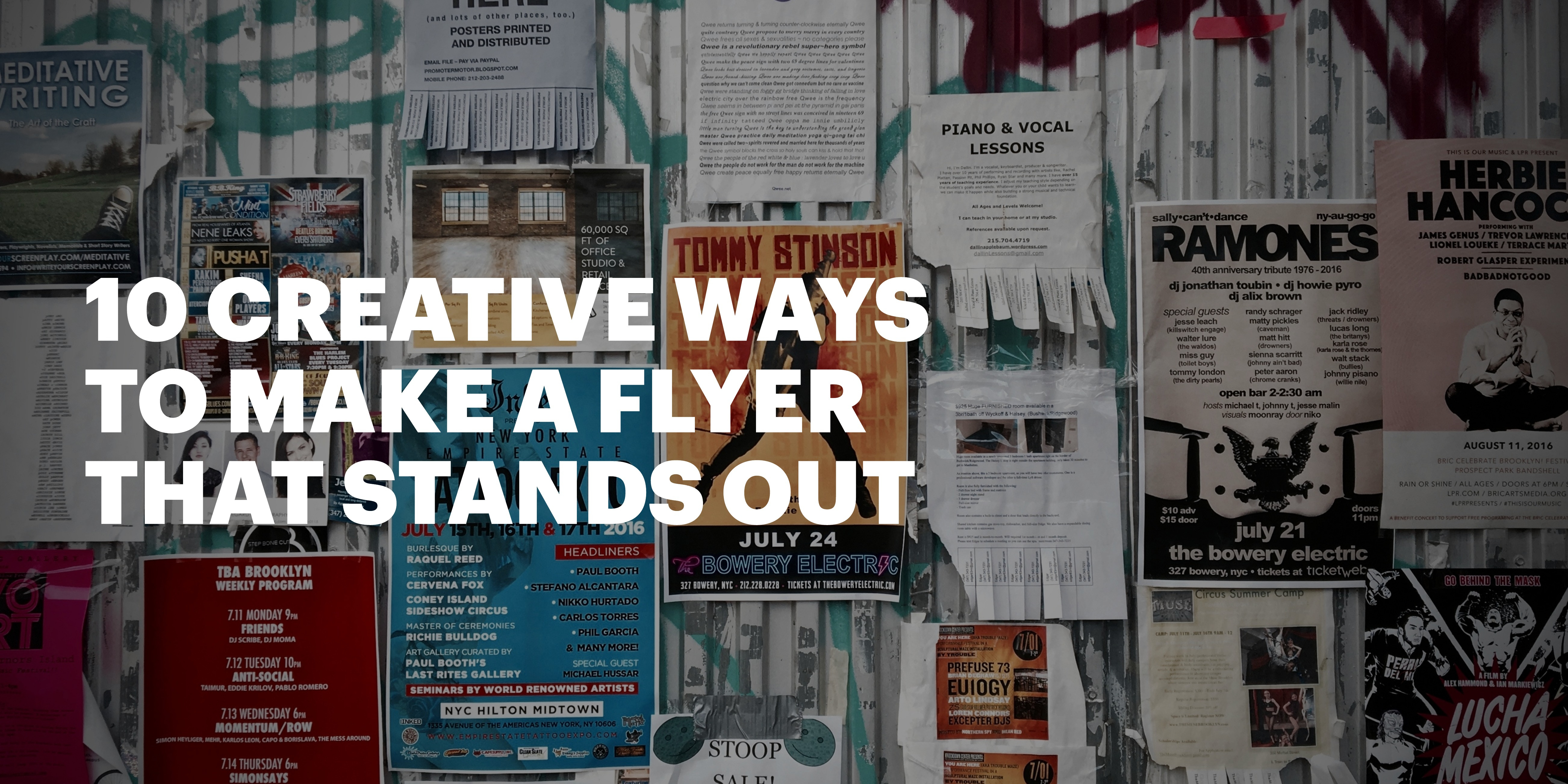 10 Creative Ways To Make A Flyer That Stands Out - Create Flyers Online Free Printable