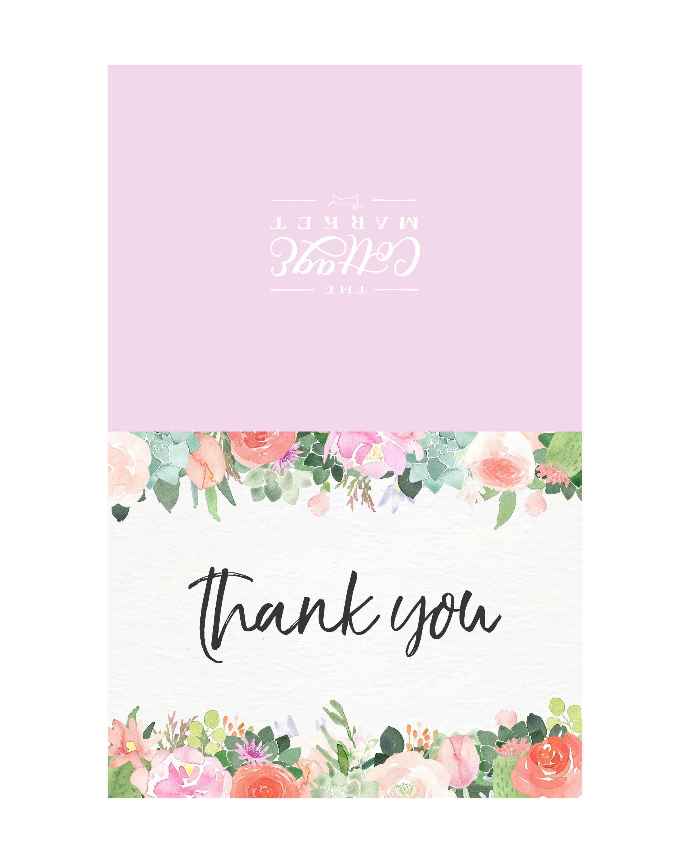 10 Free Printable Thank You Cards You Can't Miss - The Cottage Market - Free Printable Thank You Cards