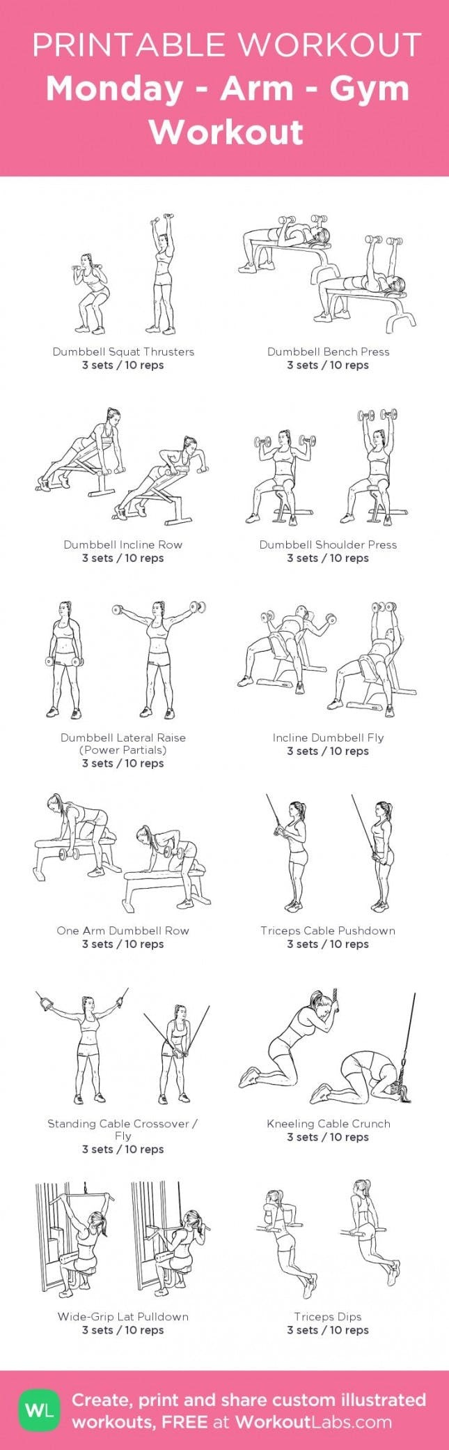 10 Free Printable Workouts To Get Fit Anywhere | Brit + Co - Free Printable Gym Workout Plans