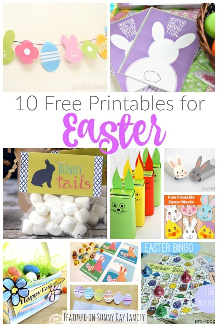 10 Free Printables For Easter: Decorations, Treats, & Games | Sunny - Free Printable Easter Decorations