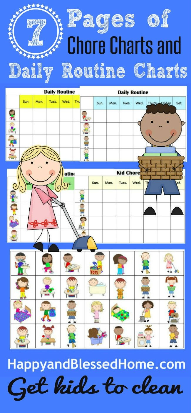 10 Minutes To Clean And Free Printable Chore Charts For Kids   Home - Free Printable Charts For Kids