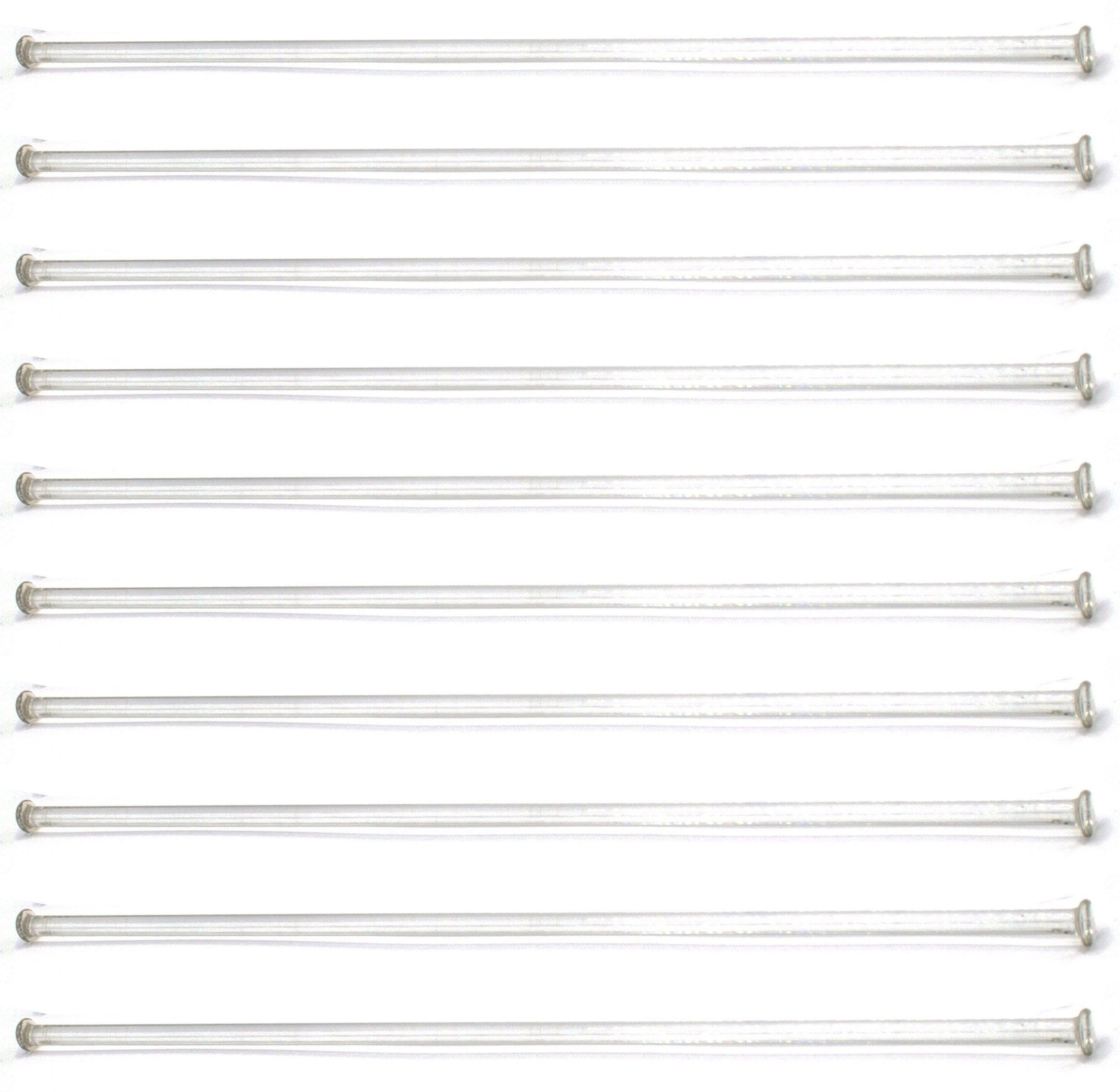 """10-Pack Of 12"""" (30Cm) Stirring Rod - Glass With Button Ends 