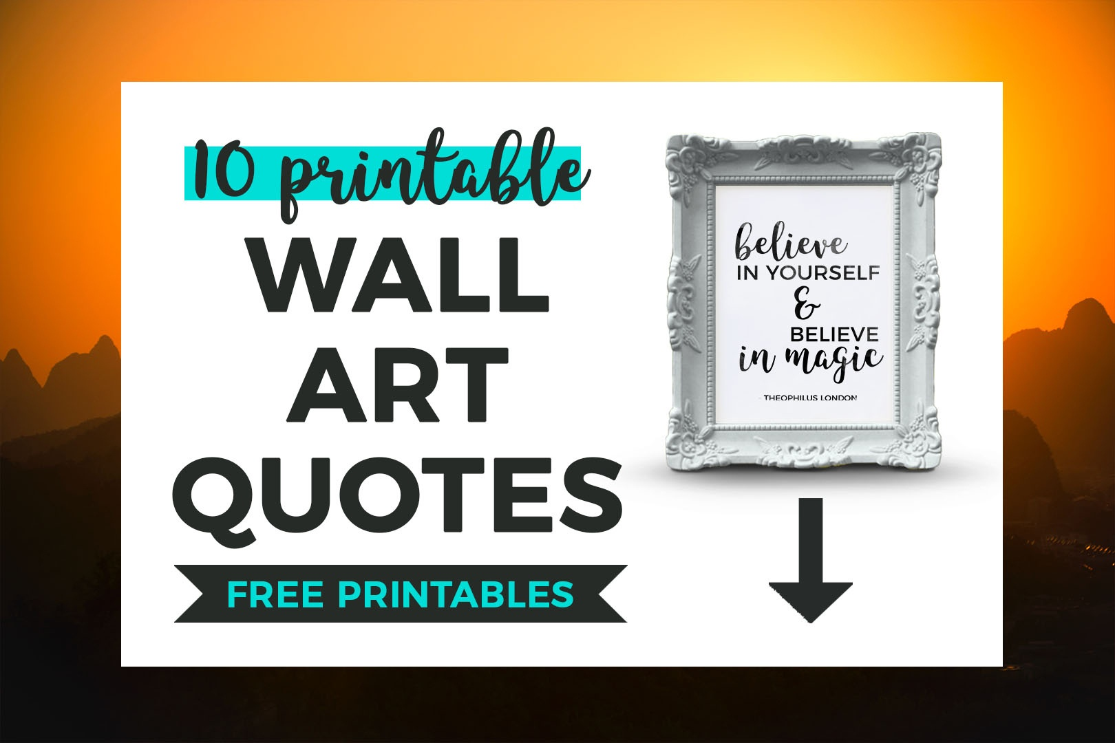 10 Printable Black And White Quotes That Inspire   It's All You Boo - Free Printable Wall Art Quotes