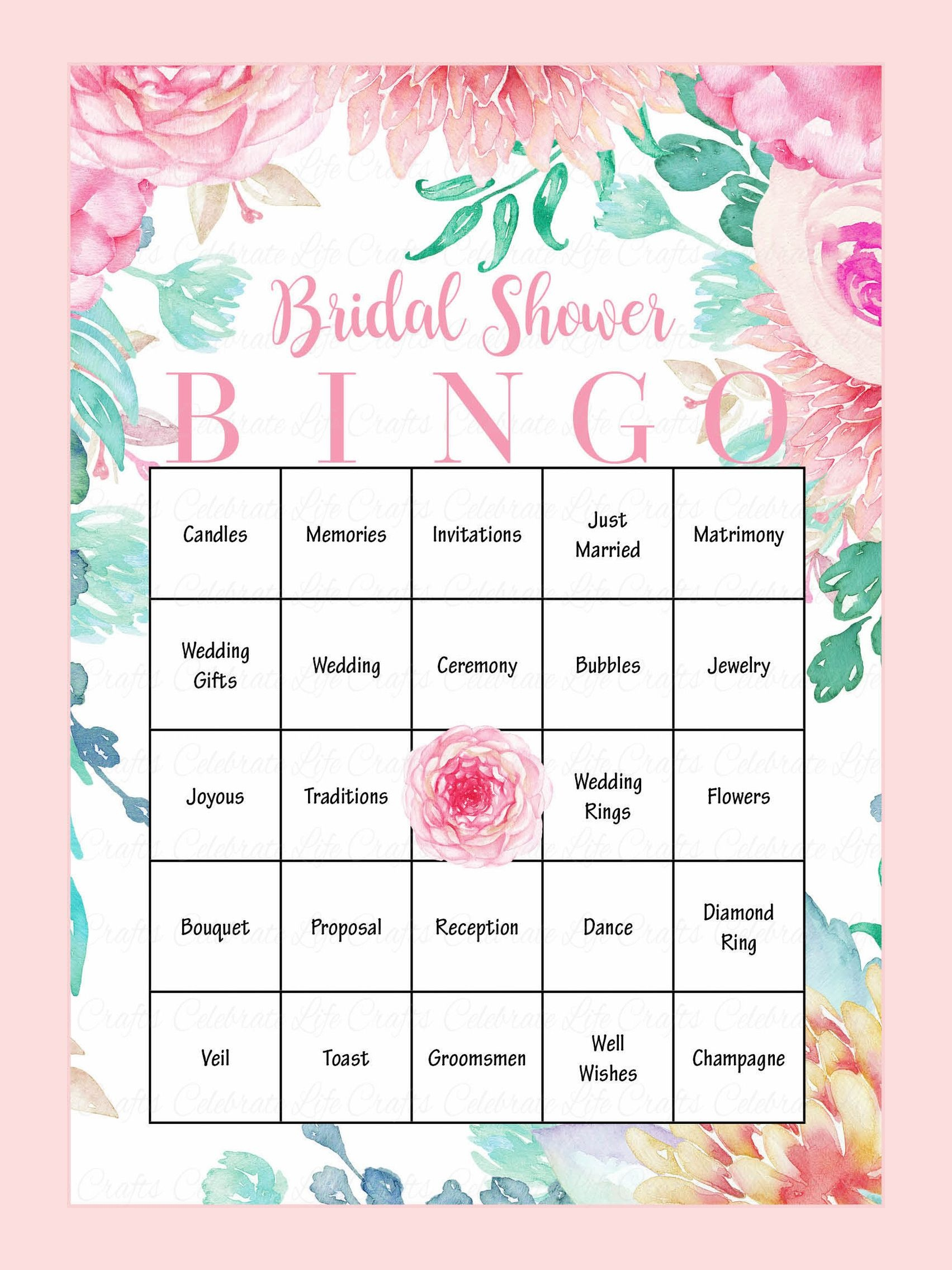 10 Printable Bridal Shower Games You Can Diy | Bridal Showers - Free Printable Bridal Shower Bingo