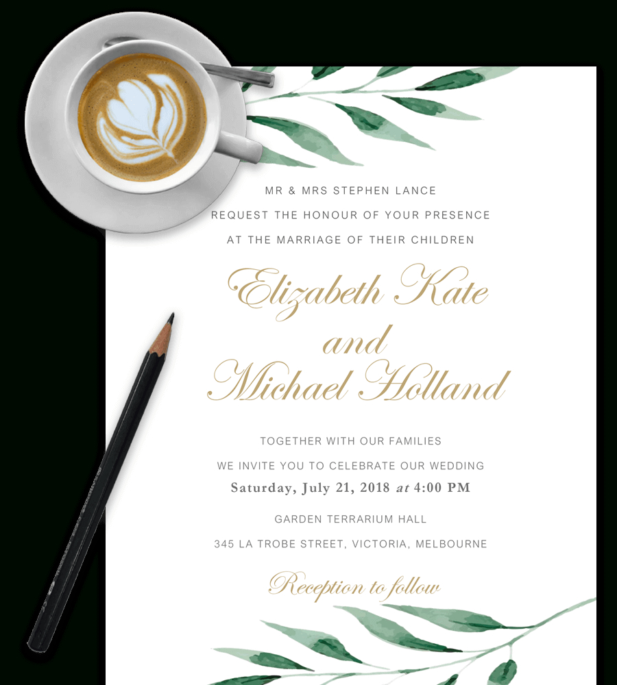 100% Free Wedding Invitation Templates In Word [Download & Customize] - Free Printable Wedding Invitation Templates For Microsoft Word