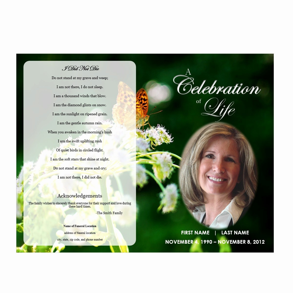 1000 Images About Printable Funeral Program Templates On - Free Printable Funeral Programs