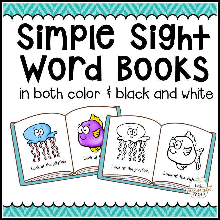 104 Simple Sight Word Books In Color & B/w - The Measured Mom - Free Printable Books For Kindergarten