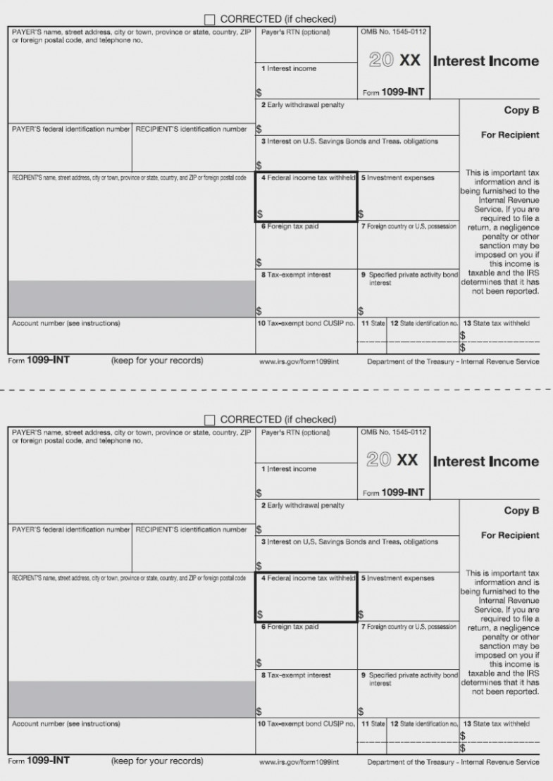 11 Common Misconceptions About Irs Form 11 | Form Information - Free Printable 1099 Form