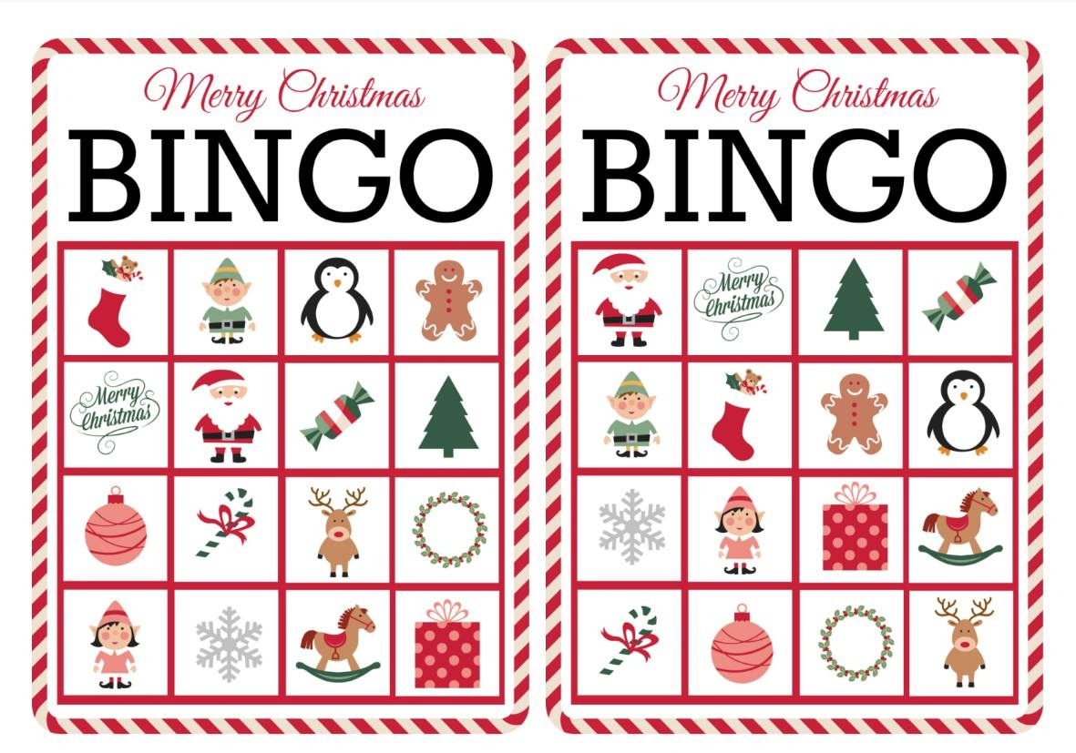 11 Free, Printable Christmas Bingo Games For The Family - Free Printable Spanish Bingo Cards
