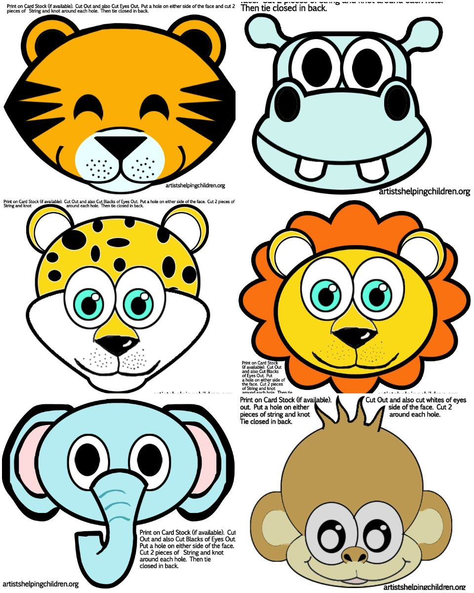 11 Ideas To Plan The Best First Birthday Bash! | Dharti | Jungle - Animal Face Masks Printable Free