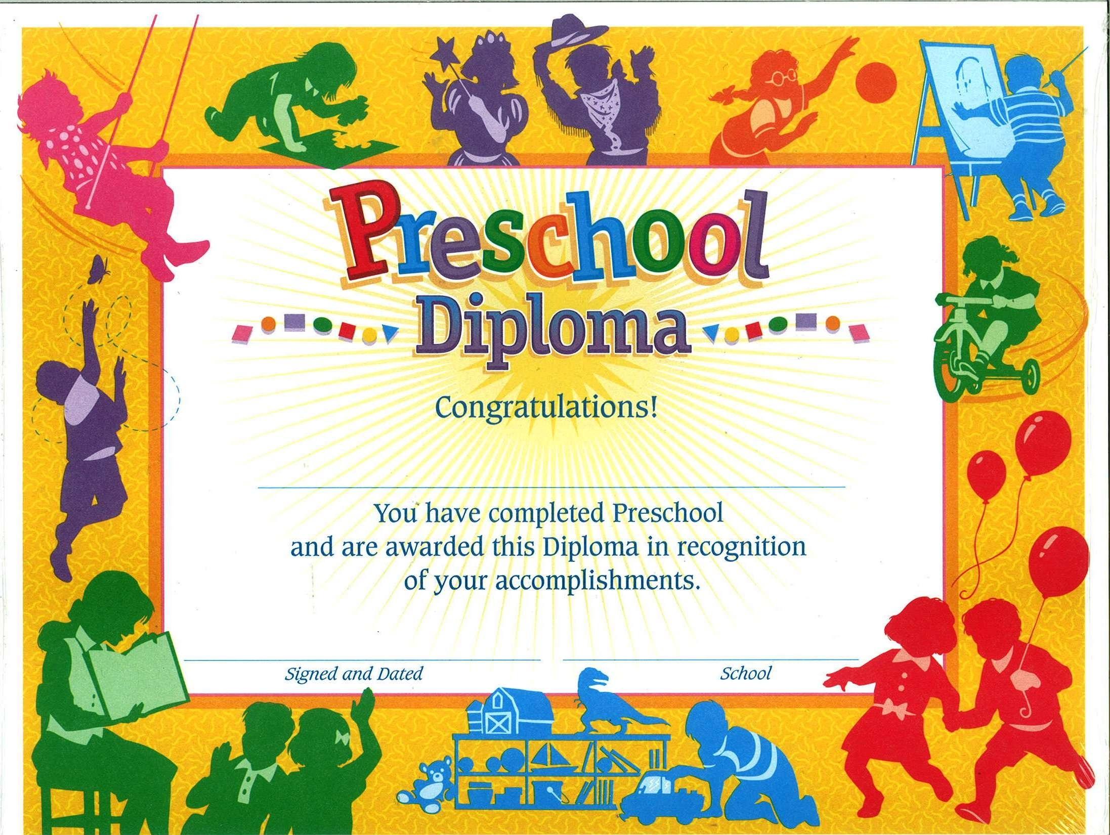 11+ Preschool Certificate Templates - Pdf | Free & Premium Templates - Preschool Graduation Diploma Free Printable