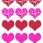 11 Valentine Heart Template Images   Free Printable Valentine Hearts   Free Printable Valentine Heart Patterns