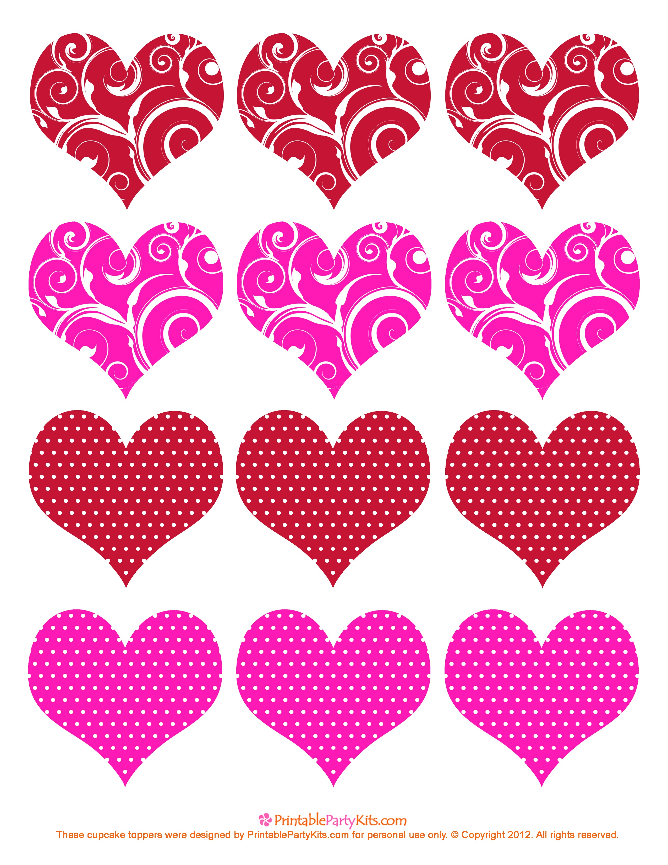 11 Valentine Heart Template Images - Free Printable Valentine Hearts - Free Printable Valentine Heart Patterns