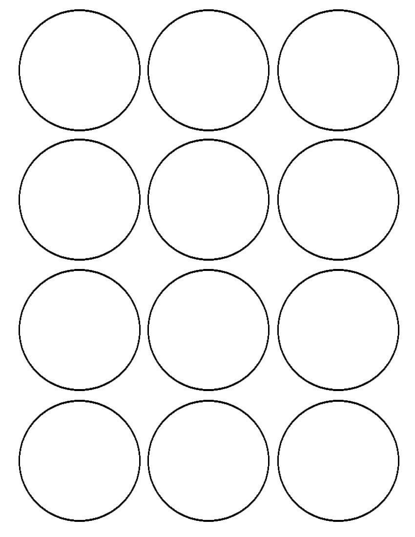 12/ 2.5 Inch Images Per Sheet *** Ships To Us Territory Only. Price - Free Printable 6 Inch Circle Template