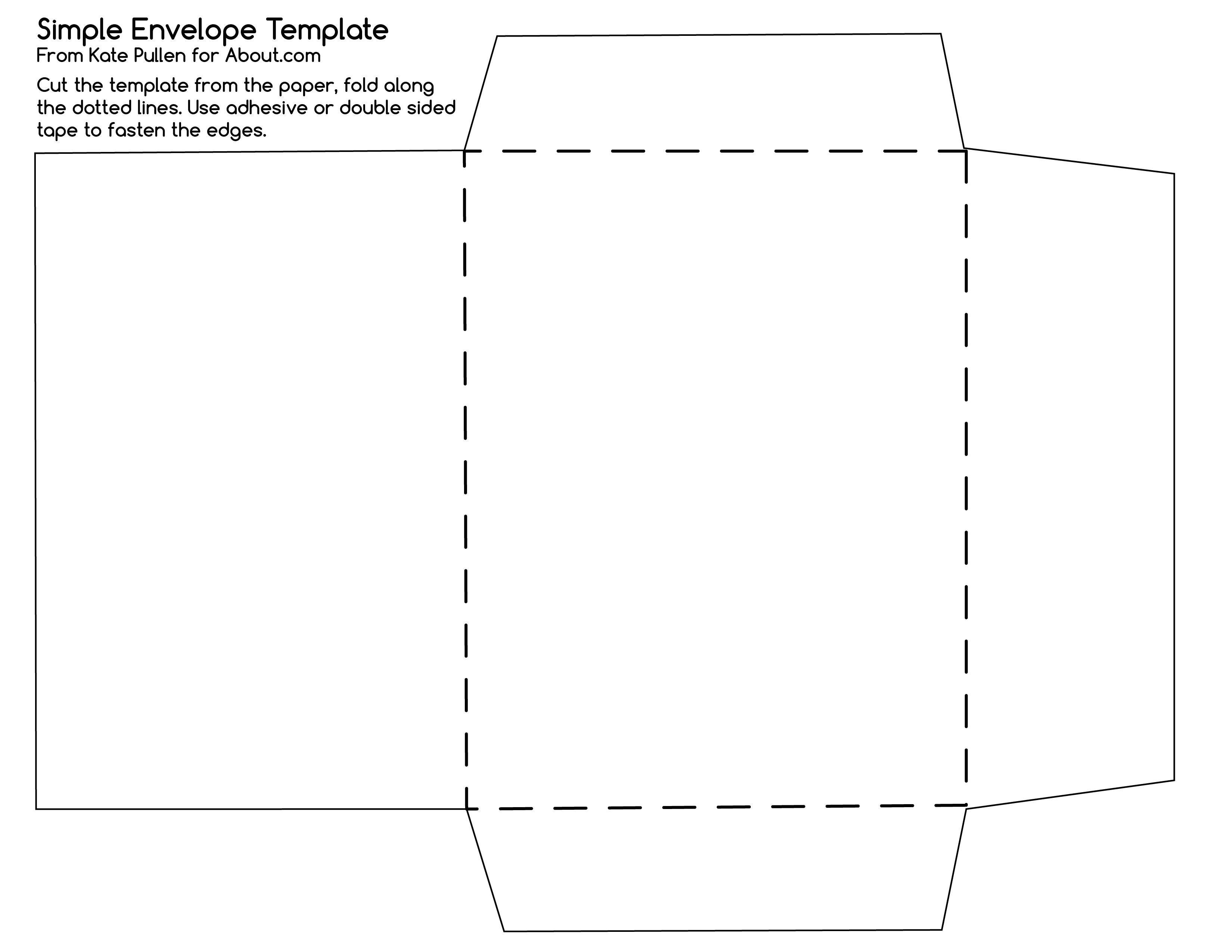 12 Free Printable Templates | D I Y | Diy Envelope Template - Free Printable Envelope Size 10 Template