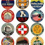 12 Vintage Travel Stickers: World Mix (Free Download)   Vintralab   Free Printable Travel Stickers