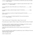 14 Best Images Of Worksheets Potential And Kinetic Energy Potential   Free Printable Worksheets On Potential And Kinetic Energy