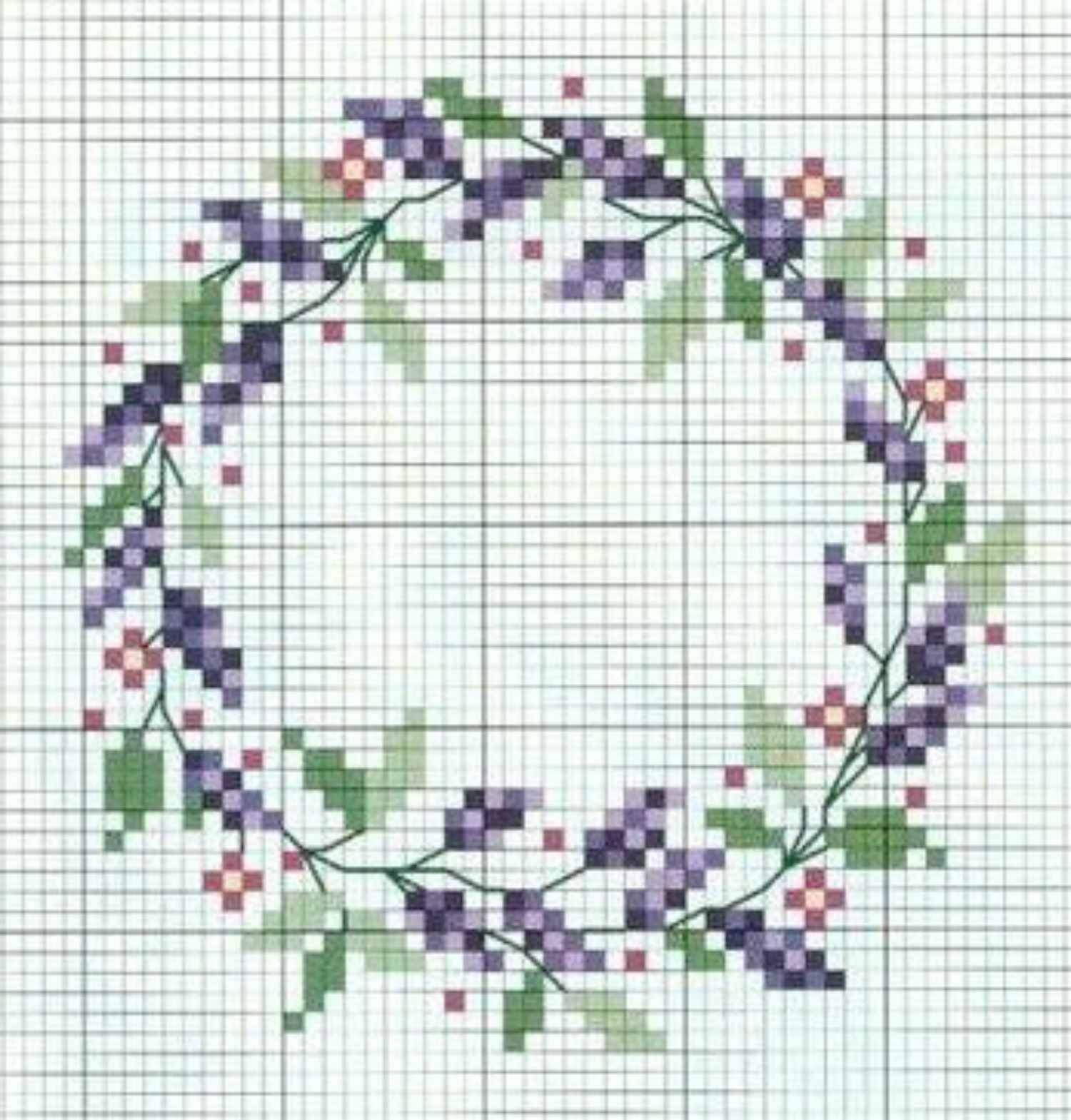 15 Floral Wreath Cross-Stitch Patterns - Free Printable Cross Stitch Patterns Flowers