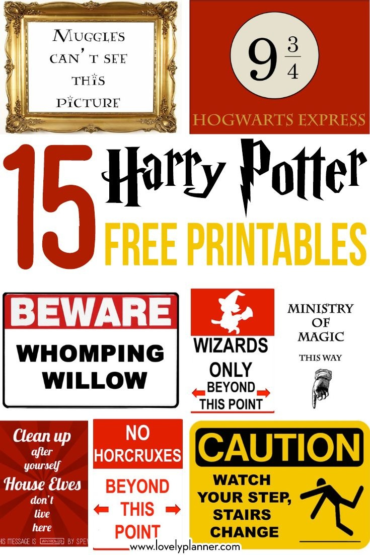 15 Free Harry Potter Party Printables - Part 1 | Harry Potter Party - Free Printable Harry Potter Pictures