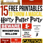 15 Free Harry Potter Party Printables   Part 1   Lovely Planner   Free Printable Harry Potter Posters