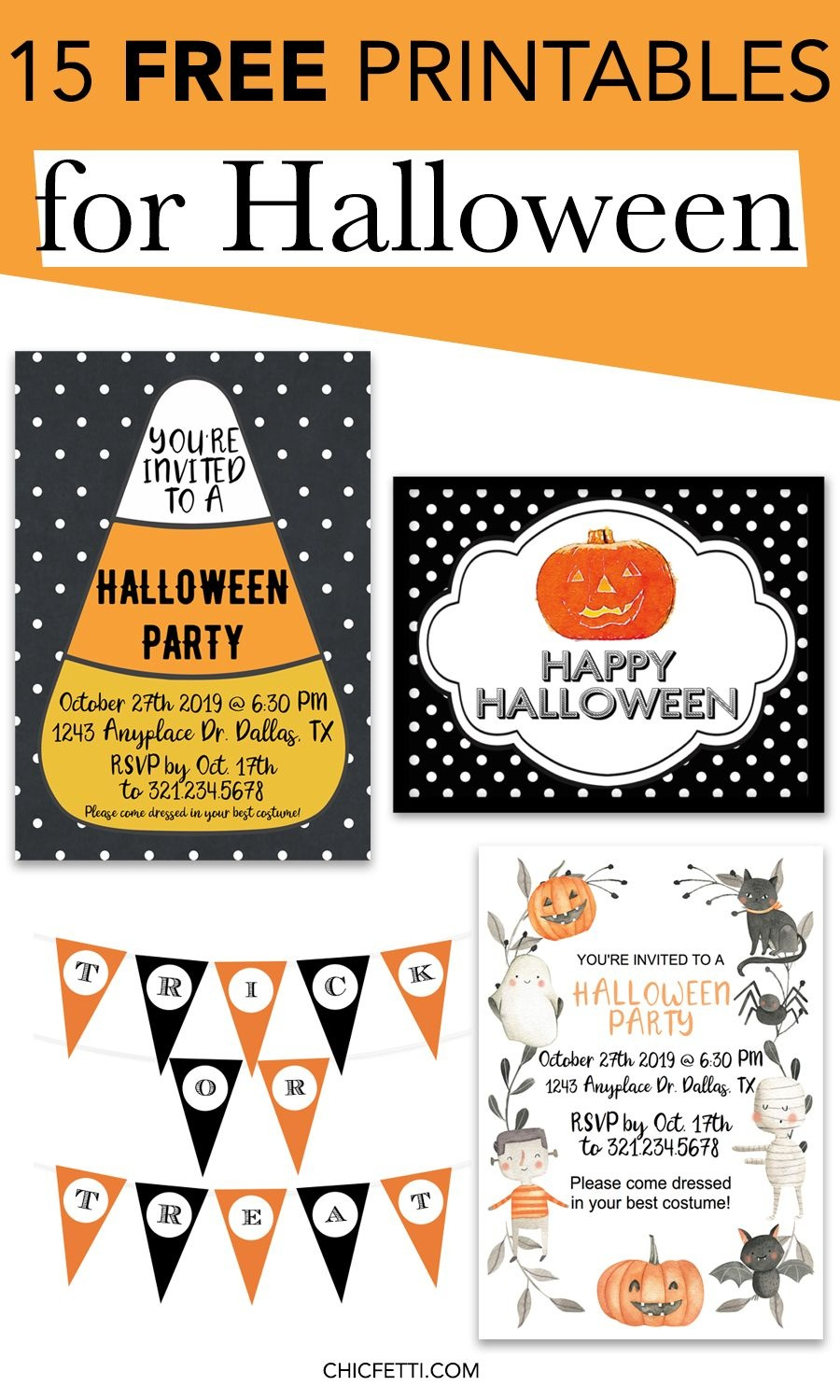15 Free Printables For Halloween | Printable Wall Art For Home And - Free Printable Halloween Banner
