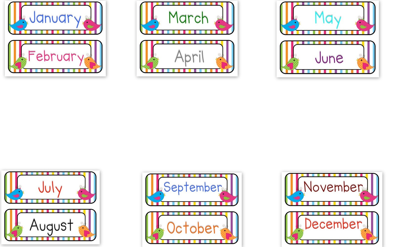 15+ Months Of The Year Clipart   Clipartlook - Free Printable Months Of The Year Labels