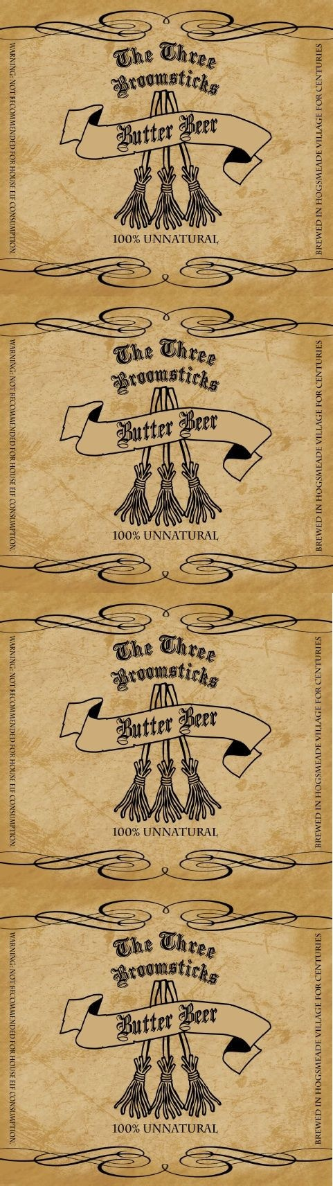 15 Unique Harry Potter Labels Pictures | Waiyiptat - Free Printable Butterbeer Labels