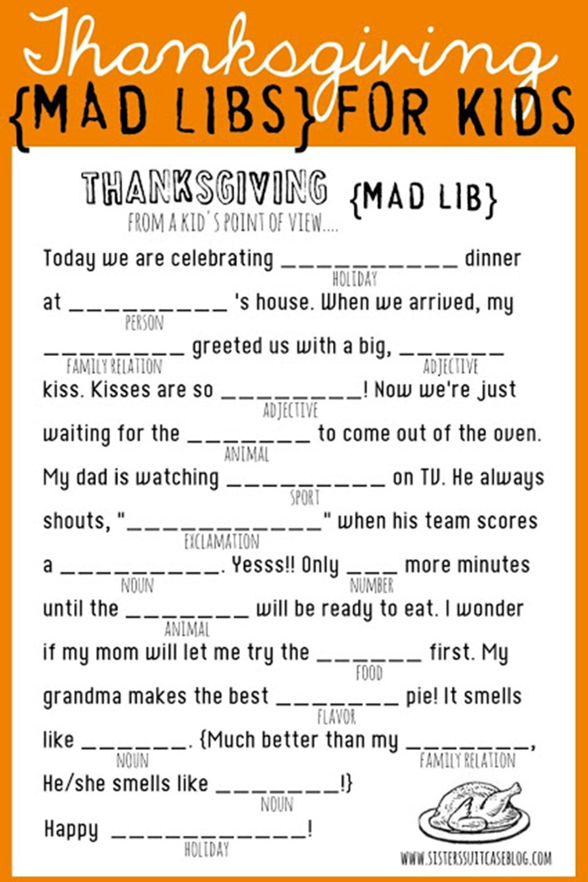 16 Fun Thanksgiving Games For Adults And Kids - Best Diy Games To - Free Printable Thanksgiving Games For Adults