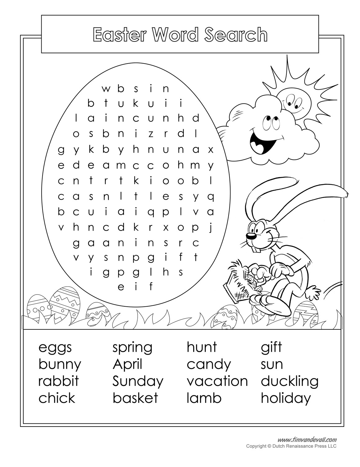 16 Printable Easter Word Search Puzzles   Kittybabylove - Free Printable Easter Puzzles For Adults