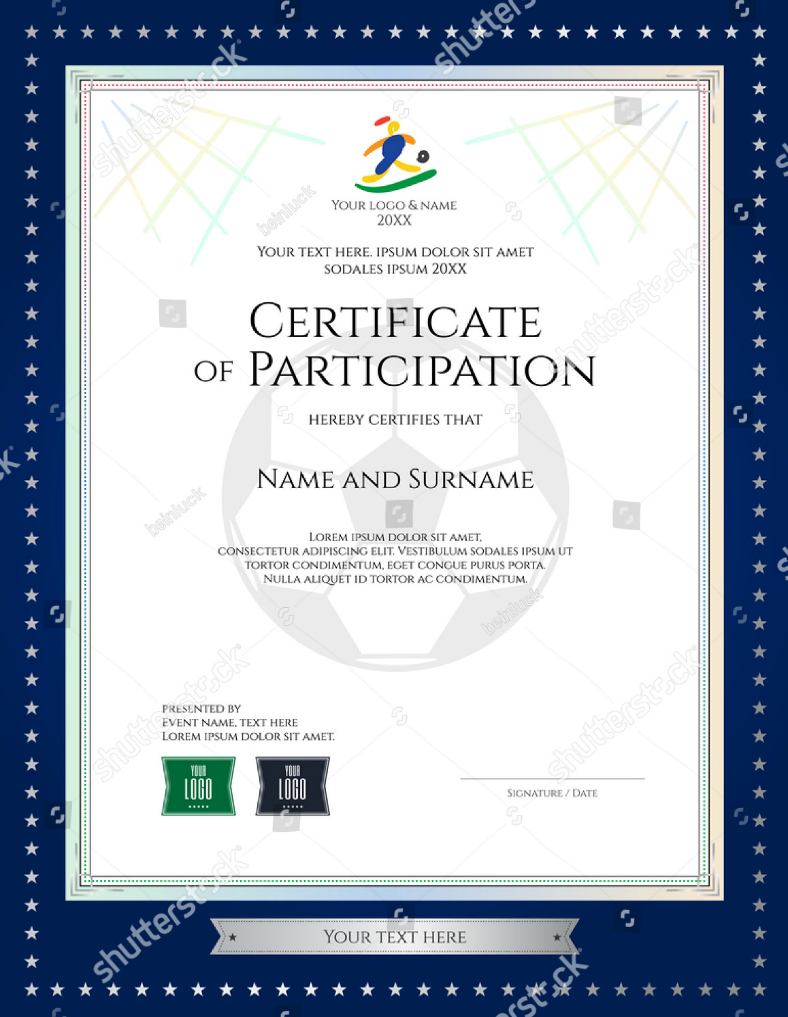 17+ Certificate Of Participation Designs & Templates - Psd, Ai - Free Printable Wrestling Certificates