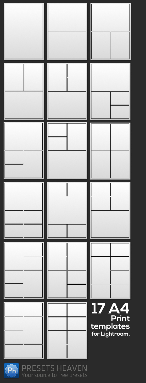 17 Free Print Templates For Lightroom   Free Lightroom Stuff - Free Printable Photo Collage Template