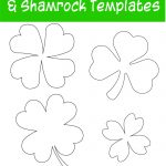 17+ Free Printable Four Leaf Clover & Shamrock Templates   The   Shamrock Template Free Printable