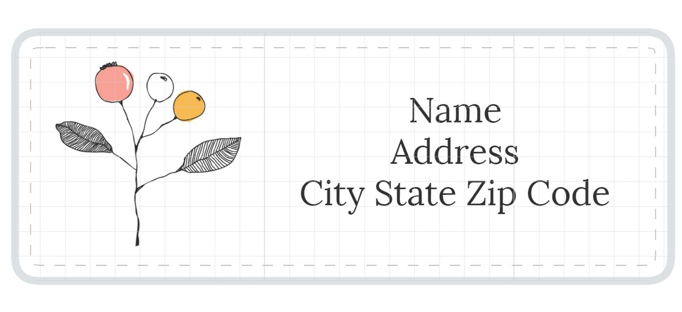 1,789 Address Label Templates - Free Printable Christmas Return Address Label Template